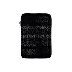 Gray Plaid Black Apple Ipad Mini Protective Soft Cases