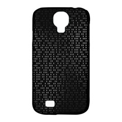 Gray Plaid Black Samsung Galaxy S4 Classic Hardshell Case (pc+silicone)