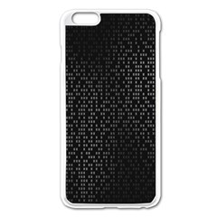 Gray Plaid Black Apple Iphone 6 Plus/6s Plus Enamel White Case