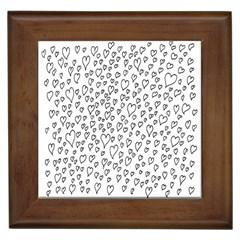 Heart Doddle Framed Tiles
