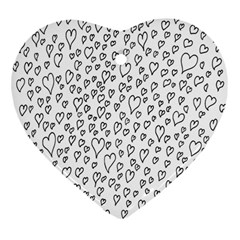 Heart Doddle Heart Ornament (two Sides)
