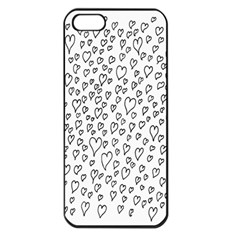 Heart Doddle Apple Iphone 5 Seamless Case (black)