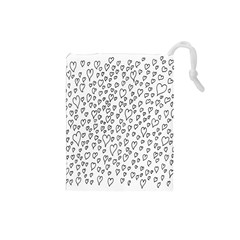 Heart Doddle Drawstring Pouches (small)