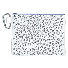 Heart Doddle Canvas Cosmetic Bag (xxl)