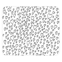 Heart Doddle Double Sided Flano Blanket (small)