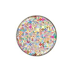 Circle Rainbow Polka Dots Hat Clip Ball Marker (4 Pack)