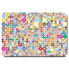 Circle Rainbow Polka Dots Large Doormat