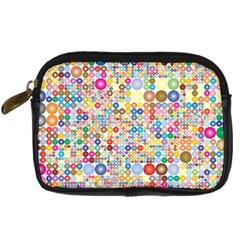 Circle Rainbow Polka Dots Digital Camera Cases
