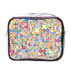Circle Rainbow Polka Dots Mini Toiletries Bags