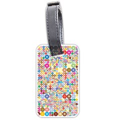 Circle Rainbow Polka Dots Luggage Tags (two Sides)