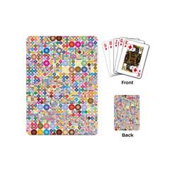 Circle Rainbow Polka Dots Playing Cards (mini)
