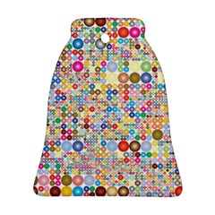 Circle Rainbow Polka Dots Bell Ornament (two Sides)