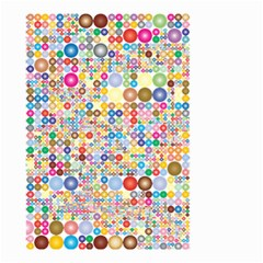 Circle Rainbow Polka Dots Small Garden Flag (two Sides)