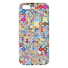 Circle Rainbow Polka Dots Apple Iphone 5 Premium Hardshell Case