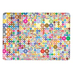 Circle Rainbow Polka Dots Samsung Galaxy Tab 10 1  P7500 Flip Case