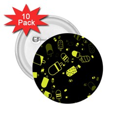 Ice Cream Cool Yellow 2 25  Buttons (10 Pack)