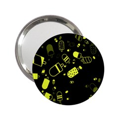 Ice Cream Cool Yellow 2 25  Handbag Mirrors