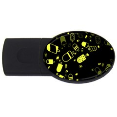 Ice Cream Cool Yellow Usb Flash Drive Oval (2 Gb)