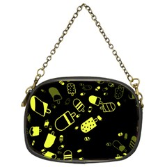 Ice Cream Cool Yellow Chain Purses (one Side)