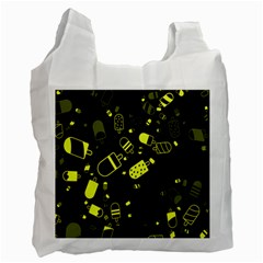 Ice Cream Cool Yellow Recycle Bag (one Side)