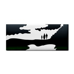 Landscape Silhouette Clipart Kid Abstract Family Natural Green White Cosmetic Storage Cases