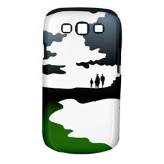 Landscape Silhouette Clipart Kid Abstract Family Natural Green White Samsung Galaxy S Iii Classic Hardshell Case (pc+silicone)