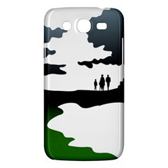 Landscape Silhouette Clipart Kid Abstract Family Natural Green White Samsung Galaxy Mega 5 8 I9152 Hardshell Case