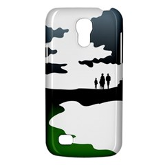 Landscape Silhouette Clipart Kid Abstract Family Natural Green White Galaxy S4 Mini