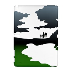Landscape Silhouette Clipart Kid Abstract Family Natural Green White Galaxy Note 1