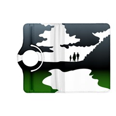 Landscape Silhouette Clipart Kid Abstract Family Natural Green White Kindle Fire Hd (2013) Flip 360 Case