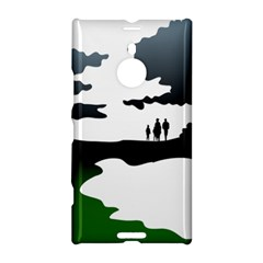 Landscape Silhouette Clipart Kid Abstract Family Natural Green White Nokia Lumia 1520