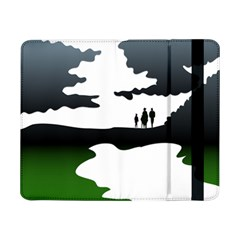 Landscape Silhouette Clipart Kid Abstract Family Natural Green White Samsung Galaxy Tab Pro 8 4  Flip Case
