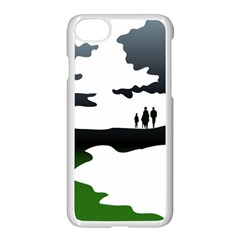 Landscape Silhouette Clipart Kid Abstract Family Natural Green White Apple Iphone 8 Seamless Case (white)