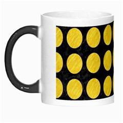 Circles1 Black Marble & Yellow Colored Pencil (r) Morph Mugs