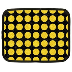Circles1 Black Marble & Yellow Colored Pencil (r) Netbook Case (xl)