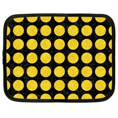 Circles1 Black Marble & Yellow Colored Pencil (r) Netbook Case (xxl)