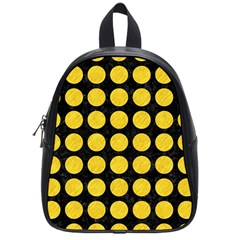 Circles1 Black Marble & Yellow Colored Pencil (r) School Bag (small)