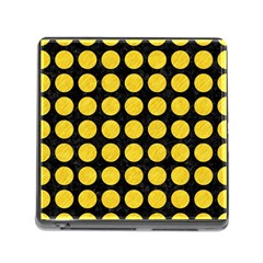 Circles1 Black Marble & Yellow Colored Pencil (r) Memory Card Reader (square)