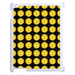 Circles1 Black Marble & Yellow Colored Pencil (r) Apple Ipad 2 Case (white)