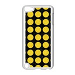 CIRCLES1 BLACK MARBLE & YELLOW COLORED PENCIL (R) Apple iPod Touch 5 Case (White) Front