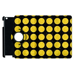 Circles1 Black Marble & Yellow Colored Pencil (r) Apple Ipad 3/4 Flip 360 Case