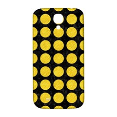 Circles1 Black Marble & Yellow Colored Pencil (r) Samsung Galaxy S4 I9500/i9505  Hardshell Back Case