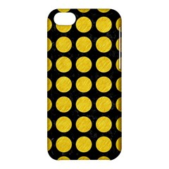 Circles1 Black Marble & Yellow Colored Pencil (r) Apple Iphone 5c Hardshell Case