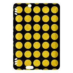 Circles1 Black Marble & Yellow Colored Pencil (r) Kindle Fire Hdx Hardshell Case