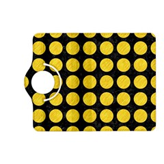 Circles1 Black Marble & Yellow Colored Pencil (r) Kindle Fire Hd (2013) Flip 360 Case