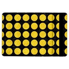 Circles1 Black Marble & Yellow Colored Pencil (r) Ipad Air Flip