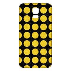 Circles1 Black Marble & Yellow Colored Pencil (r) Samsung Galaxy S5 Back Case (white)