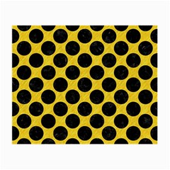 Circles2 Black Marble & Yellow Colored Pencil Small Glasses Cloth