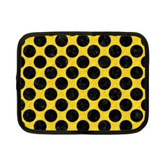 Circles2 Black Marble & Yellow Colored Pencil Netbook Case (small)