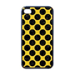 Circles2 Black Marble & Yellow Colored Pencil Apple Iphone 4 Case (black)